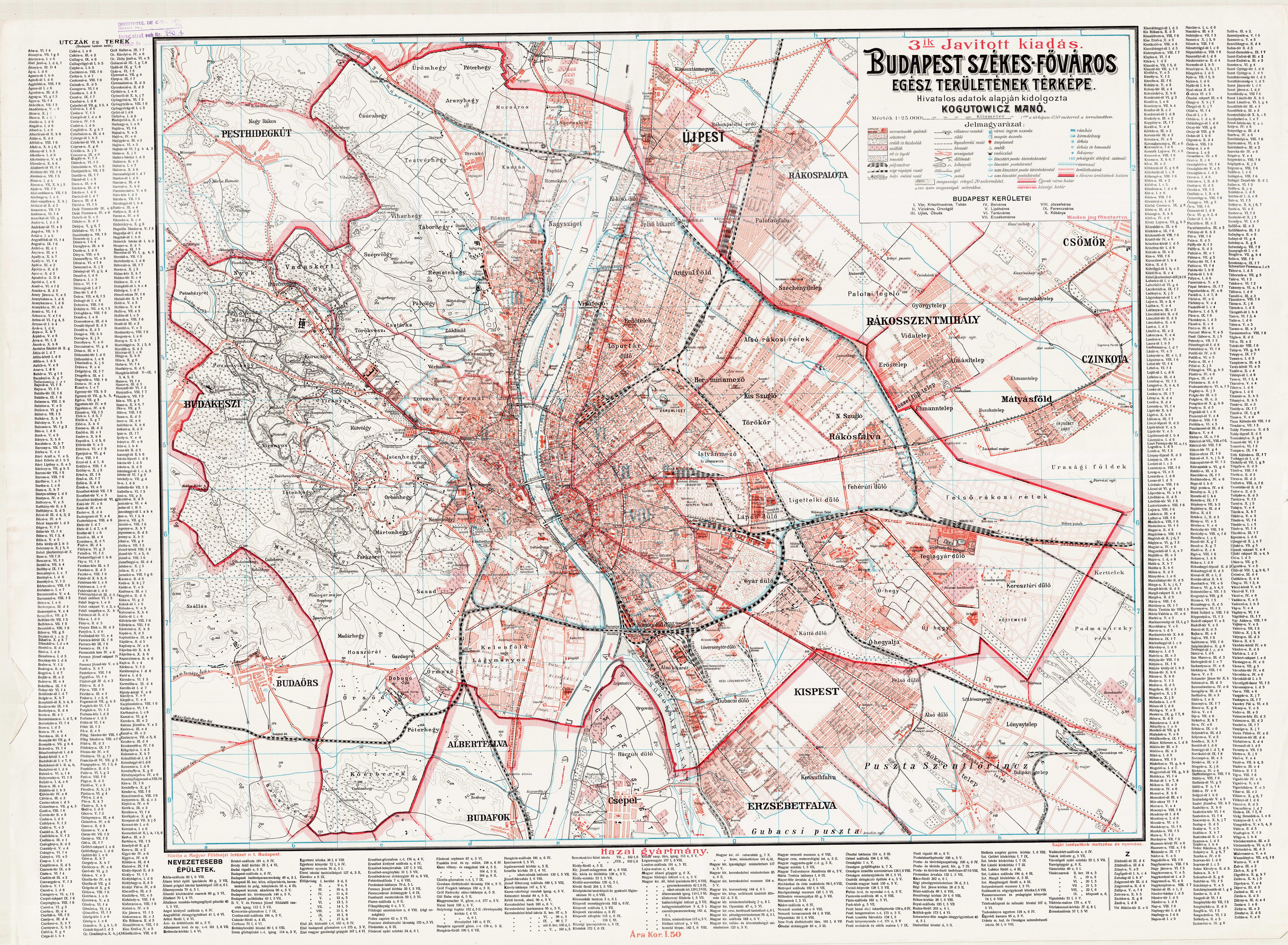 budapest térkép 1920 torzs43 | Cholnoky Jenő Hagyaték budapest térkép 1920